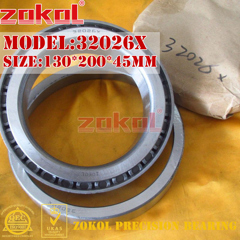 ZOKOL 32026 X bearing 32026X 2007126E Tapered Roller Bearing 130*200*45mm 30203 bearing 17 40 12 mm 1 pc tapered roller bearings 30203 x 7203e bearing