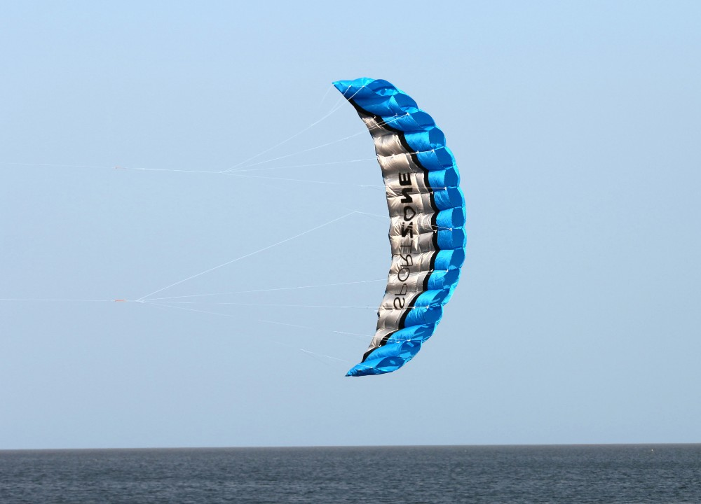 Alta calidad 2.5 m Blue Dual Line Parafoil Kite WithFlying - Deportes y aire libre - foto 4