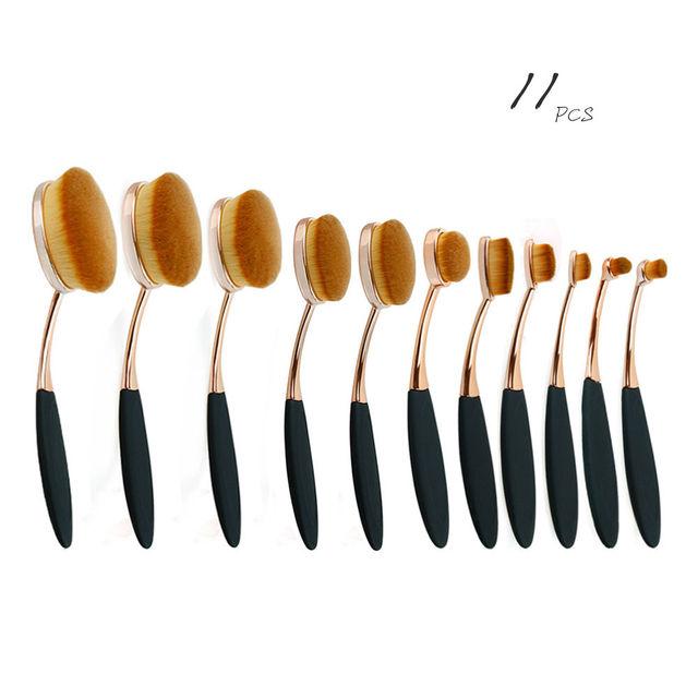 Escova De Dentes Em Forma de beleza Fundação Poder Maquiagem Creme Oval Puff Escovas