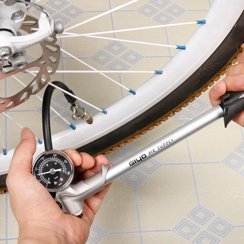 Image 5 - GIYO 300PSI воздушный насос для накачивания велосипедный насос для накачивания вилка шок подходит для Schrader с psi/bar манометр Bleeder складной шланг GS02D-in Велосипедный насос from Спорт и развлечения