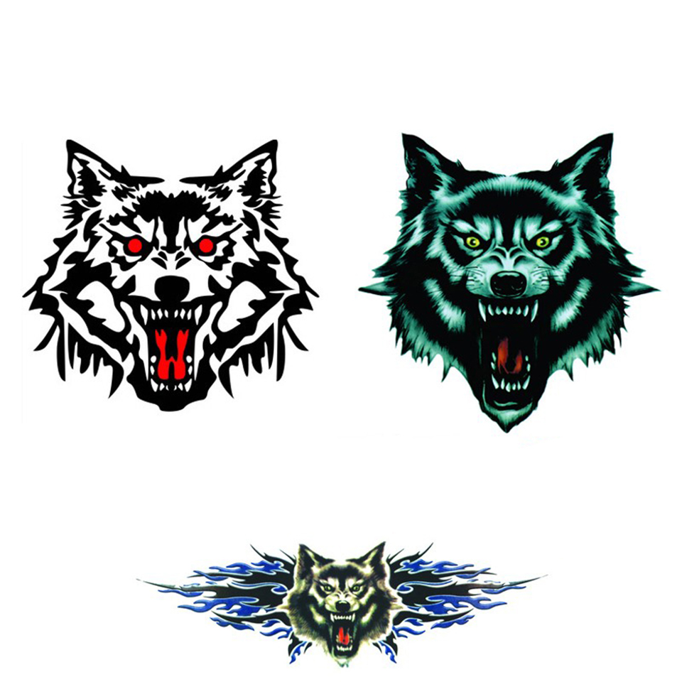 Image 5 - OCT 23 Car Vucuiys Wolf head Animal Door Decal Vinyl Graphics Auto Front/Side stickers 2pcs/set-in Car Stickers from Automobiles & Motorcycles