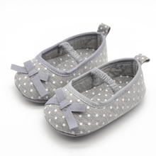 Pure Cotton Fabric First Walker Gary Color Shoes Handmade Woven Butterfly-knot Baby Girl & Boy Cake For Newborn