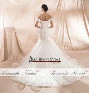 Image 2 - Amanda Novias 2020 New Model Mermaid Wedding Gown Beading Lace Wedding Dress
