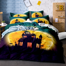 3D Skull Bedding Sets Colorful Flower with Duvet Cover Set for Twin Queen King Size Halloween Sugar