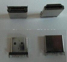 500 шт. Разъем HDMI hdmi 19 P Мужчина тип Припоя/Оболочки никель покрытие/Сварки ноги расширение