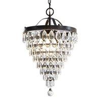 American restaurant chandelier round crystal metal iron