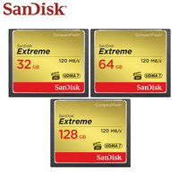 SanDisk Extreme CompactFlash 32GB 64GB 128GB CF Cards UDMA 7 800X VPG 20 120MB/s Compact Flash Memory Cards for SLR/ HD Cameras