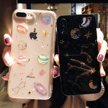 Fashion Shining Glitter Space planet phone Cases For