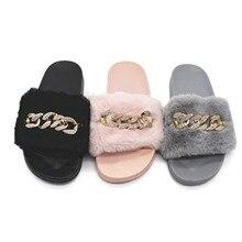 hot deal buy fashion winter autumn women slippers faux fur female house slide plush slipper flipflop sandals fluffy flip flop furry lady shoe