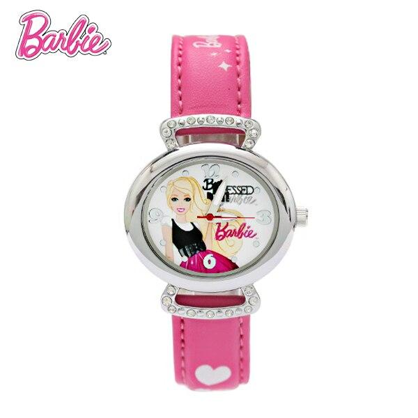 100% Подлинная Барби смотреть Детям Смотреть Моды Кварцевые часы Наручные Часы Дети Часы мальчики девочки Студенты Наручные Часы BA00082-1