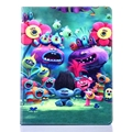 Trolls Poppy Case For Apple iPad 2 3 4 TPU Pu Leather PC Branch Elves Biggie Stand Floder Flip Tablet Case Cover Shell Magic