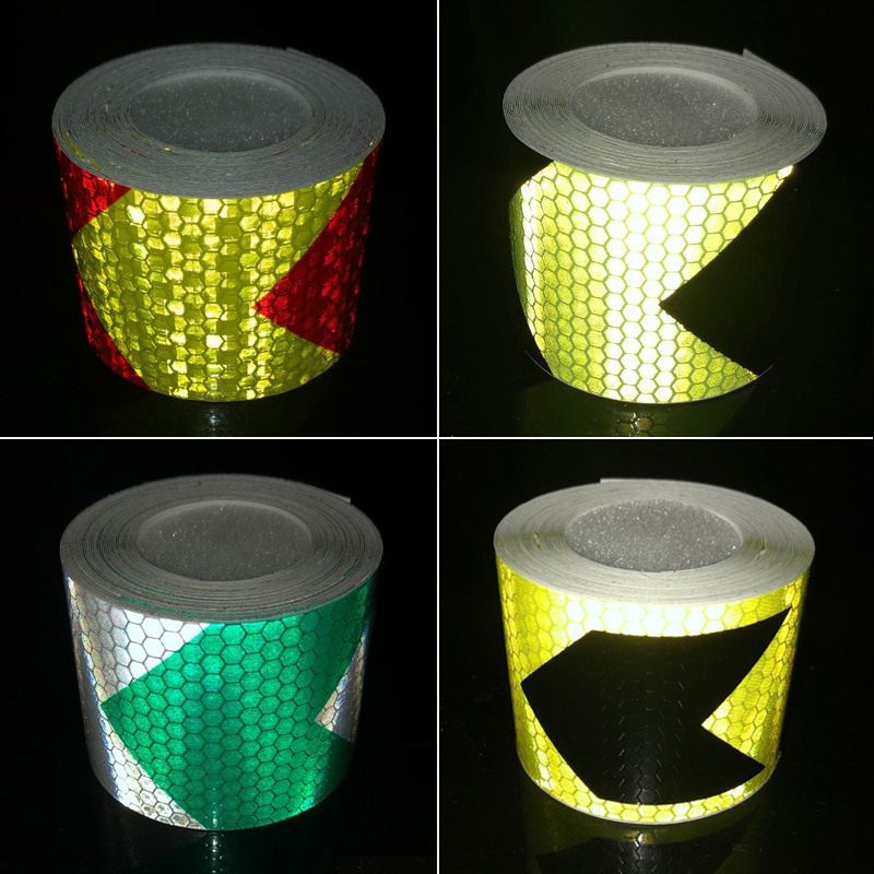 5cmx1m Reflective Strips Car Stickers Car-styling Motorcycle Decoration Automobiles Safety Warning Mark Tapes
