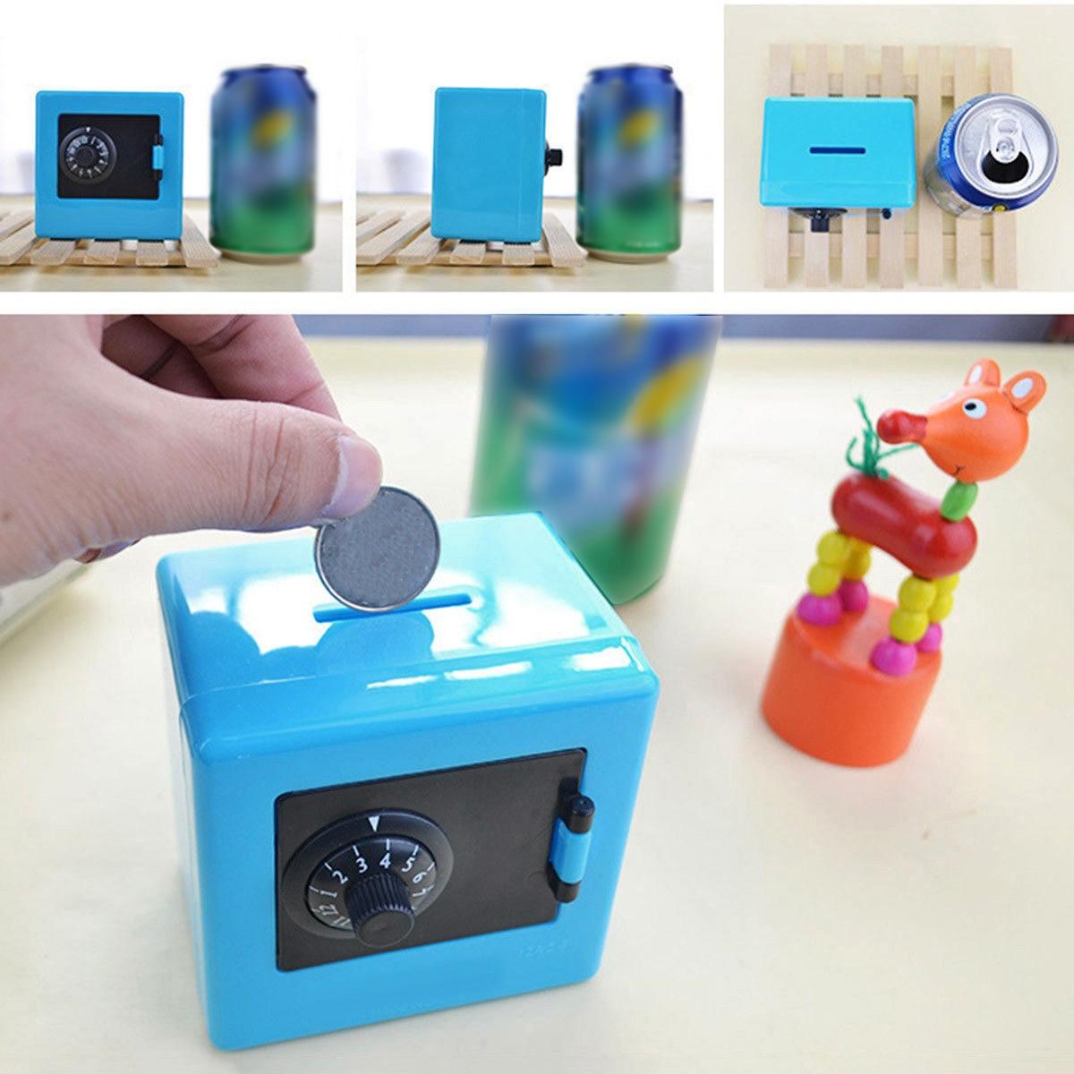 Mini Combination Money Coin Saving Storage Box Cash Safe Piggy Bank Case Gift