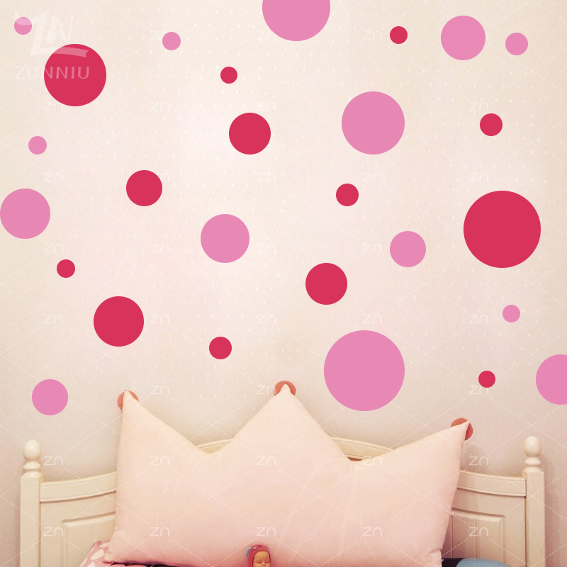 ZN Circle Polka Dots wall stickers Assorted DIY Vinyl home decor for kids rooms Art Round Wall decals nursery decoration Gifts