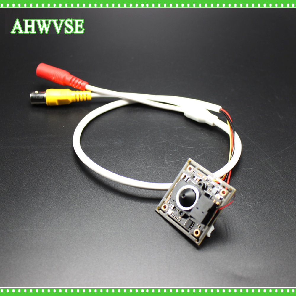 AHWVSE New 12pcs/lot Indoor CCTV Mini AHD Camera module with BNC Cable and 3.7 mm lens