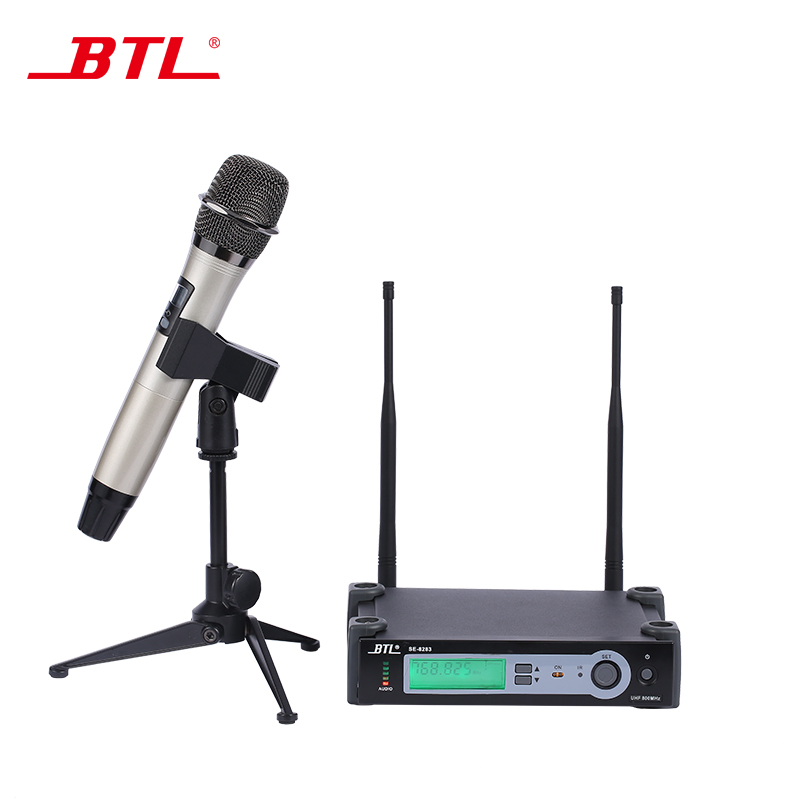 btl wireless microphone uhf top quality single handheld diversity one channel wireless. Black Bedroom Furniture Sets. Home Design Ideas