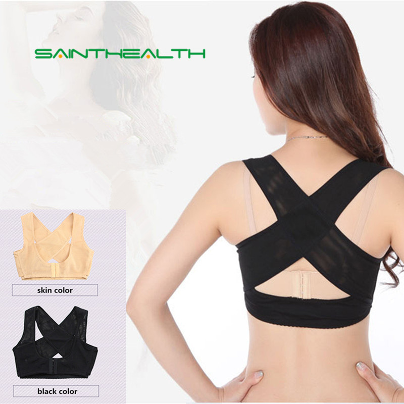 Chest Orthoses Breast Care Gather Adjustable Underwear Body Sculpting <font><b>Humpback</b></font> Correction Tape Bra Corset Back Corrector Shapers image