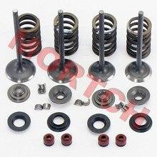 Детали двигателя мотоцикла, шток клапана и сальник и пружина и клапаны, набор для CFMOTO CF188 CF500 X5 ATV UTV 500CC CF 188 500