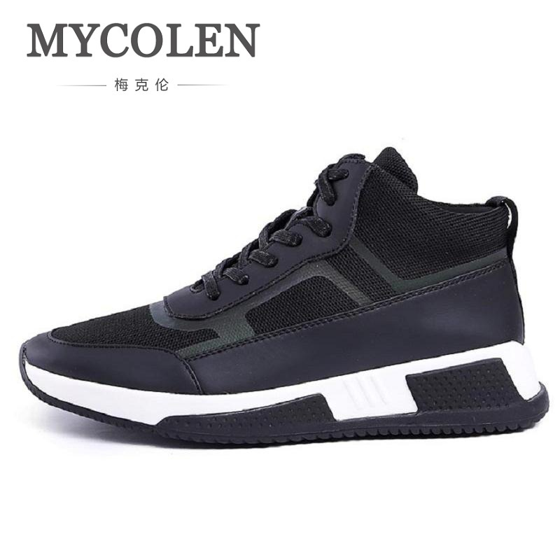 MYCOLEN New Men Casual Shoes Lace Up Fashion Brand Mesh Spring Shoes Flats Solid Men Breathable Thick Bottom Shoes Man mycolen high quality men white leather shoes fashion high top men s casual shoes breathable man lace up brand shoes