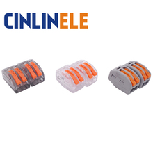 10PCS mini fast WAGO Connector 222-412(PCT212) Universal Compact Wire Wiring Connector 2 pin Conductor Terminal Block