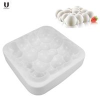 Uarter Silicone Cake Mold Rectangular Mousse Mould Bubble Shaped Muffin Baking Mould For Making Cake Mousse