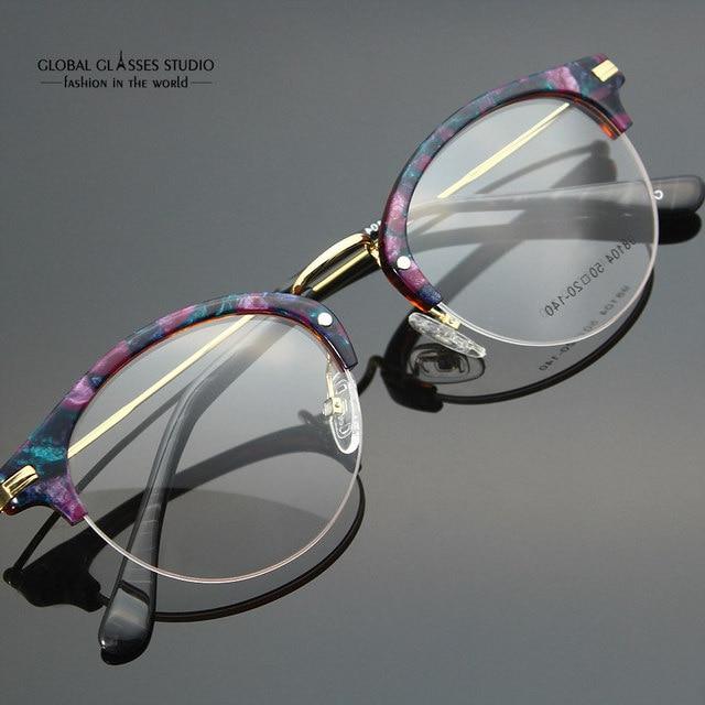 free shipping eyeglass frames vintage women designer eyewear frame optical eye glasses frame can match phototropic - Womens Designer Eyeglass Frames