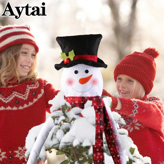 2018 newest big size snowman christmas tree toppers xmas christmas eve for home decoration tree decor
