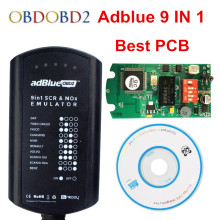 10pcs/lot Adblue 9 in 1 Supports EURO 4&5 With NOX Sensor Adblue Emulator 9in1 Box Works 9 Brand Trucks DHL Free Shipping