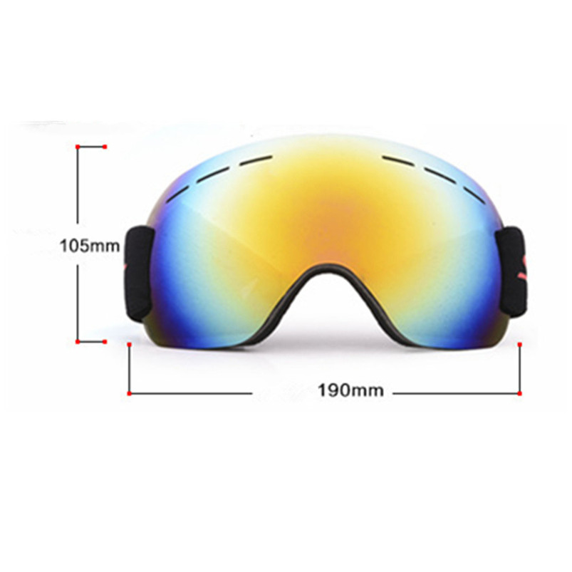 Snowboard Ski Goggles Gear Skiing Sport Adult Glasses Anti-fog UV Dual Lens Skiing Eyewear Outdoor sports Equipment #4S22 (2)