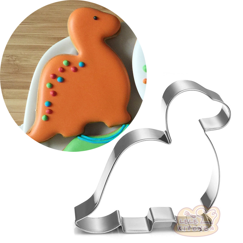 10pcs Little Dinosaur Sandwich Cutter Biscuit Stamp Metal