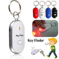 Fischietti Key Finder Lampeggiante Segnale Acustico Telecomando Perso Keyfinder Locator Portachiavi con la Torcia del LED