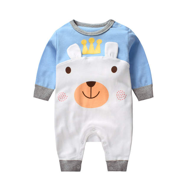 4a8fd0ef1af4 Online Shop Newborn Baby Clothes Rompers Summer Cartoon 100% Cotton Long  Sleeve Unisex Clothing Roupa Infantil Baby Rompers For Boys Girls