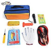 9 pcs Universal Car Emergency Rescue Kit Vehicle Rescue Package for Household and Travel