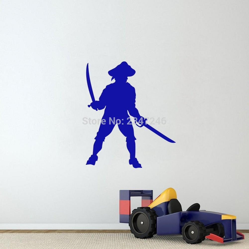 popular pirate wall decals buy cheap pirate wall decals lots from cartoon wall sticker pirates with sword wall decals forboys art vinyl mural sticker china