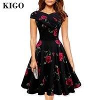 Women Summer Floral Dress 2016 Vestidos 1950s Vintage Dresses Audrey Hepurn Retro 50s Dress Plus Size