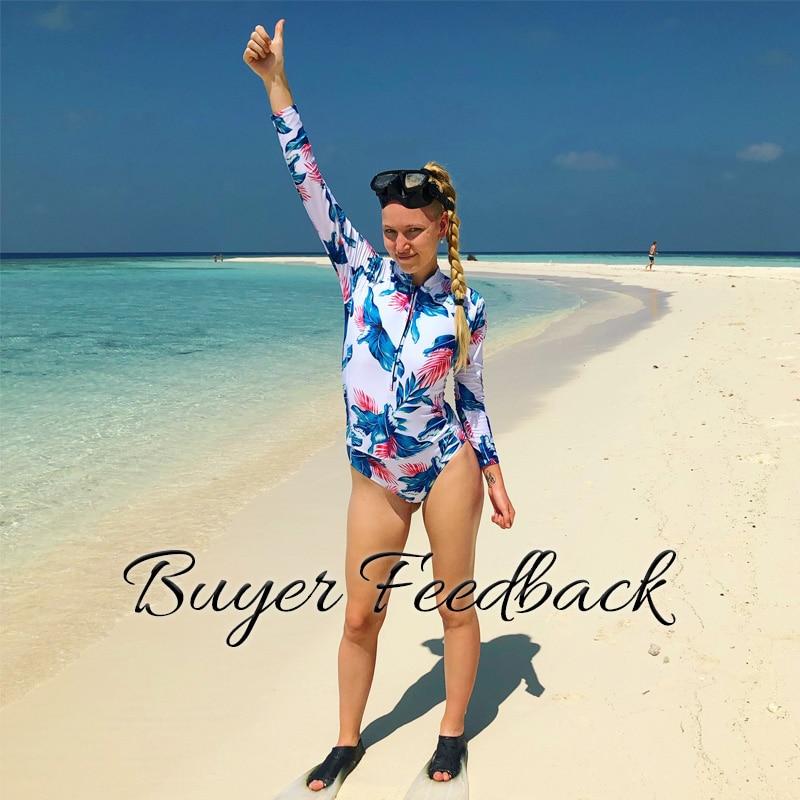 Цельный купальник с цветочным принтом, одежда для плавания с длинным рукавом, женский купальный костюм, ретро купальник, винтажный Цельный купальник для серфинга