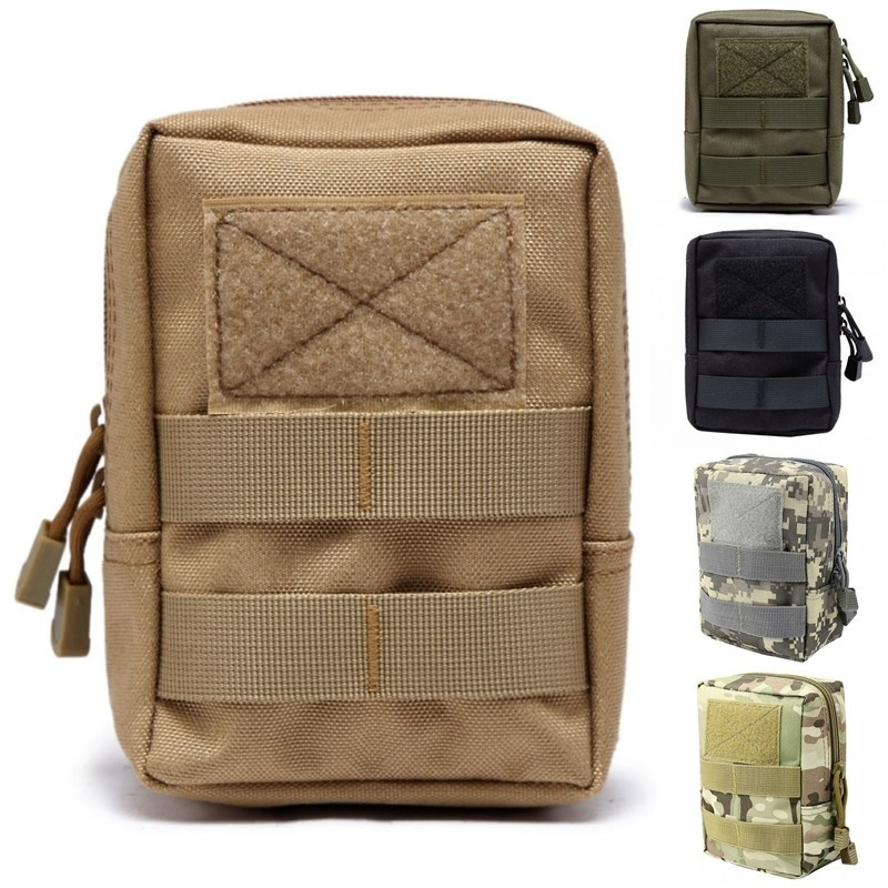 CQC Tactical Molle System Medical Pouch Utility EDC Tool Molle Pouch Waist Pack Phone Pouch Hunting 1000D Molle Bag tactical molle pouch cell phone case belt clip holster edc utility gadget 1000d nylon men waist bag outdoor gear black