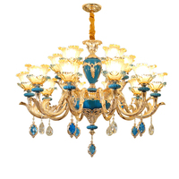 Large Gold Crystal Chandeliers Living Room Stair Hanging Lamps Luxury Hotel Lobby Crystal Lights Restaurant Bedroom Chandeliers