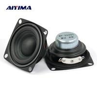 Aiyima 2 шт. 2 дюйма 5-10 Вт полный диапазон Неодимовый магнитный динамик 4ом 8ом громкий динамик
