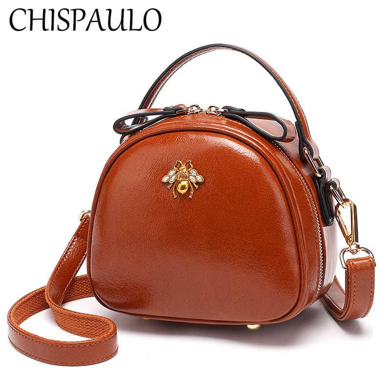 0edb5d4468ec 2018 Women Small PU Leather Handbags Designer Famous Brands Bee Crossbody  Bags Fashion Women 2018 New