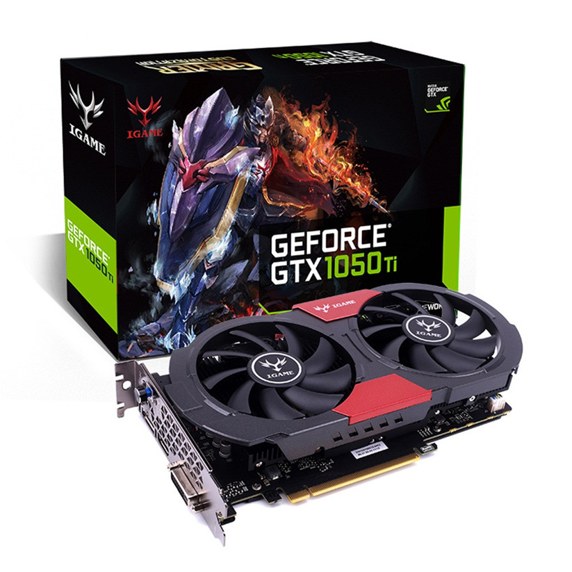 Красочные iGame GTX 1050 ti GPU 4 ГБ GDDR5 128bit игровой видеокарты Графика карты td1220 челнока