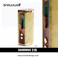 3pcs Lot SnowWolf 218W Box Mod Vape E Cigarette Kit Battery Powered By 18650 Mod Box