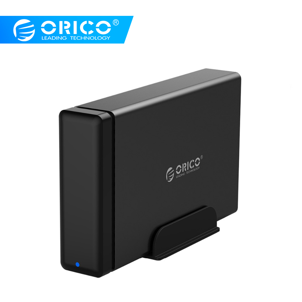 ORICO Aluminum Hard Drive HDD Dock Enclosure USB3.0 To SATA3.0 3.5 Inch HDD Case Support UASP 12V2A Power MAX 10TB Capacity