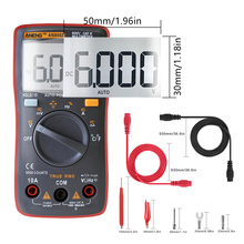 AN8002 Digital Multimeter 6000 counts digital multimeter profesional capacitor tester esr meter richmeters inductance meter стоимость