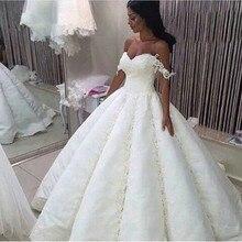 2021 Vestido De novia De Arabia Saudita, Vestido De novia elegante con cuentas, Vestido De novia con apliques De corazón, Vestido De novia, Vestido De novia