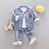 Suit For Kids Boys Jacket Toddler Clothing Sets Long Sleeve Coat+T Shirt + Pants Autumn Spring Children's Sports Clothes Suit