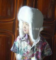 Wholesale Winter Plus Size Children Thicken Fox Fur Hats Boy Girl Warm Ear Protection Fox Bombers Fur Hats
