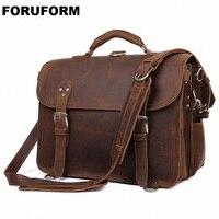 Crazy Horse/Мужская сумка из натуральной кожи, сумка для ноутбука, сумки через плечо, Мужские портфели сумки LI 1961