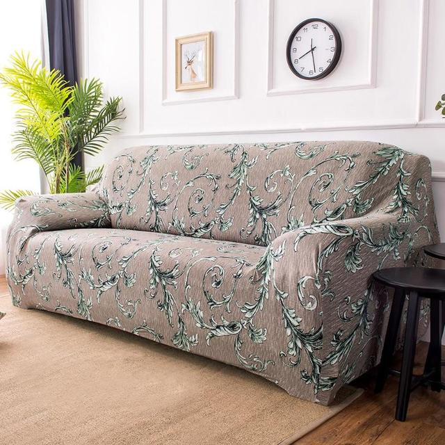 Thin Vine Blossom Stretch Slipcover Elastic Sofa Cover Couch Towel Full Wrap Cushion Protection