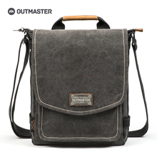 OUTMASTER Canvas Men Messenger Bags Men's Travel Tote Bags Male Bag Vertical Shoulder Crossbody Bags For Men